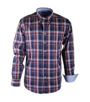Shirt Casual Burgundy Navy