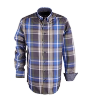 Shirt Casual Checks Royal Antraciet