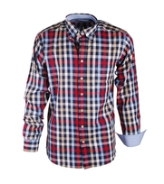 Shirt Casual Red Blue Navy