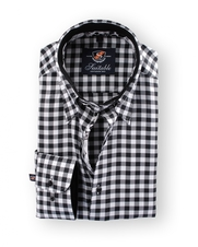 Shirt Hoge Boord Black and White Checks