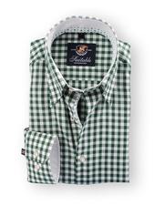 Shirt Hoge Boord Green Vichy Ruit