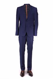 Skinny Fit Kostuum Donkerblauw
