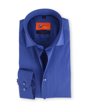 Skinny Fit Overhemd Blauw 114-3