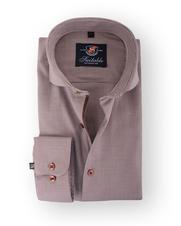 Smart Shirt Suitable Brown Pied De Poule Cutaway