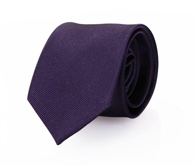 Krawatte Seide Dunkellila Uni F62