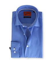 Suitable Blauw Streep Overhemd Slim Fit D61-13