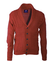Suitable Cardigan Cable Shawl Brick