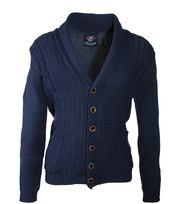 Suitable Cardigan Cable Shawl Navy