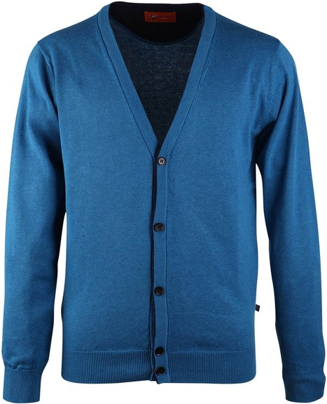 Suitable Cardigan Vest Blauw