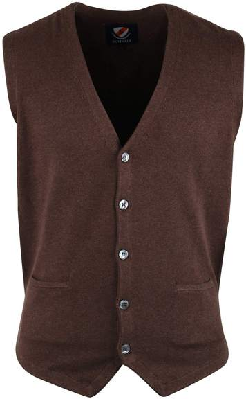 Suitable Casual Gilet Bruin