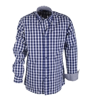 Shirt Suitable Sport Navy Blocks