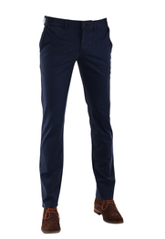 Suitable Chino Broek Donkerblauw Print