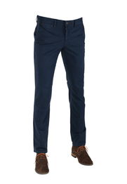 Suitable Chino Oakville Donkerblauw Print