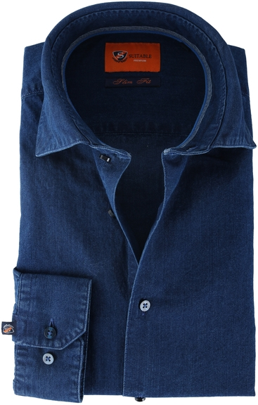 Suitable Denim Overhemd Blauw 62-05