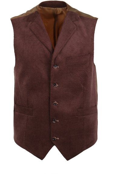 Detail Suitable Gilet Bruin Corduroy