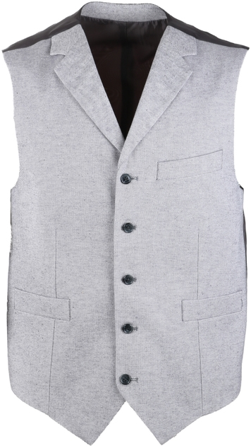Suitable Gilet Grijs Oxford