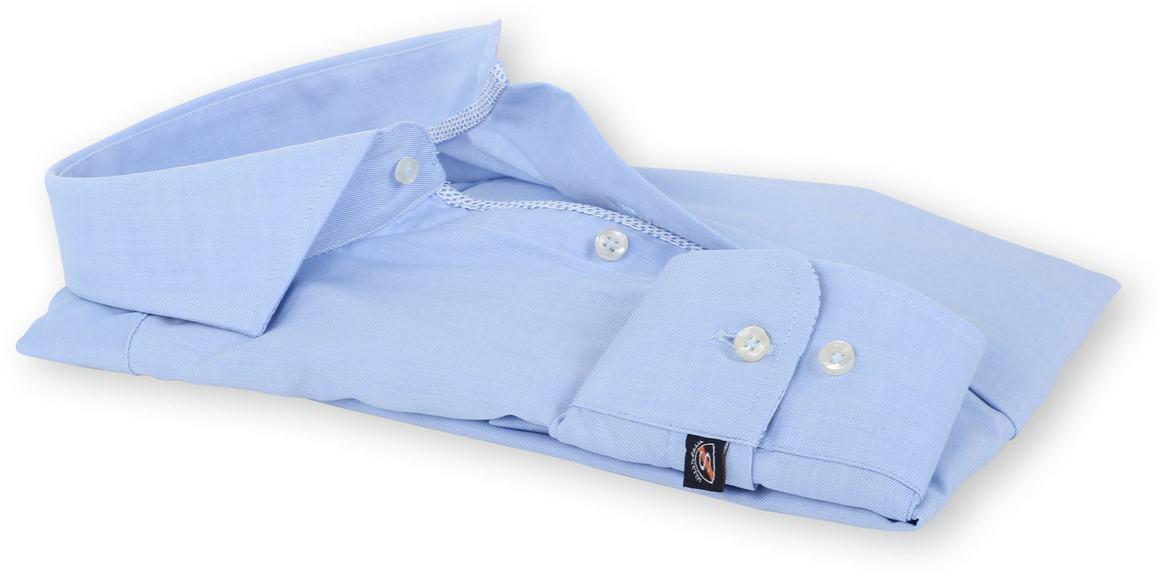 Detail Suitable Overhemd Strijkvrij Blauw 135-2