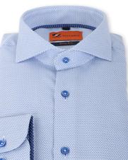 Detail Suitable Overhemd Strijkvrij Blauw 135-5