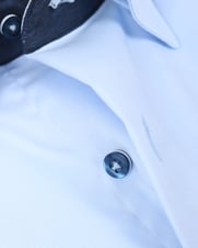 Detail Suitable Overhemd Zeta Blue Oxford