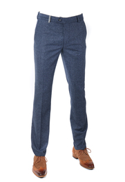 Suitable Pantalon Twill Donkerblauw