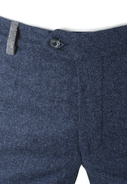 Detail Suitable Pantalon Twill Donkerblauw