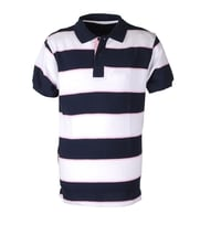 Suitable Polo Big Stripe Navy Pink