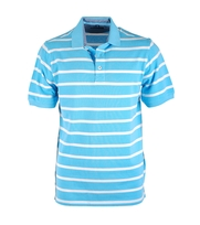 Suitable Poloshirt Aqua White