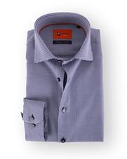 Suitable Premium Overhemd Dark Blue Dessin