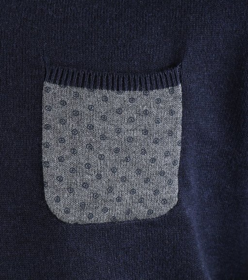 Detail Suitable Pullover Pocket Navy