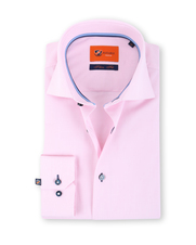 Suitable Roze Overhemd Slim Fit D61-17