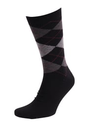 Suitable Socken Kariert Schwarz