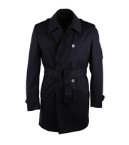 Suitable Trenchcoat Zomerjas Navy