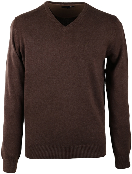 Suitable Pullover V-Hals Baumwolle Braun