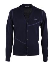 Sun68 Cardigan Vest Donkerblauw
