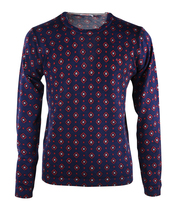 Sun68 Pullover O-neck Donkerblauw Print