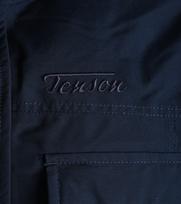 Detail Tenson Hodges Winterjas Donkerblauw