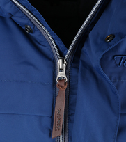 Detail Tenson Molde Winterjas Kobaltblauw