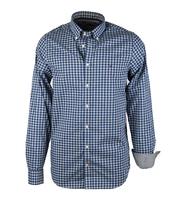 Tommy Hilfiger Shirt Gingham Blauw Ruit