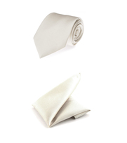 Trouw Stropdas + Pochet Twill Off-white