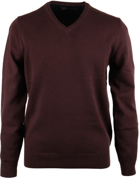 Pullover V-Neck Cotton Brown