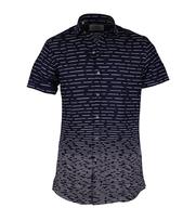 Van Gils Casual Overhemd Flip Donkerblauw