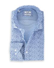 Van Gils Eastbury Shirt Blauw Print
