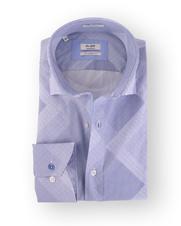 Van Gils Overhemd Blauw Print