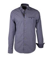 Vanguard Casual Overhemd Blauwe Ruitjes