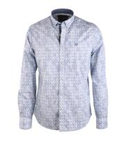 Vanguard Overhemd Blauw Print