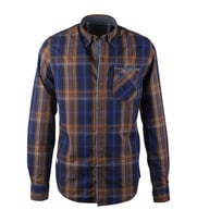 Vanguard Overhemd Blue Brown Check