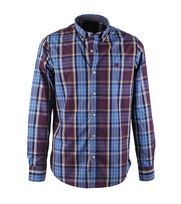 Vanguard Overhemd Blue Purple Check