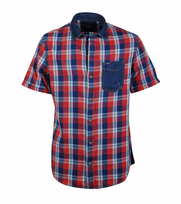 Vanguard Overhemd Geruit Rood