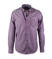 Vanguard Overhemd Paars Dessin