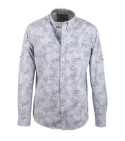 Vanguard Overhemd Print Blauw